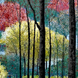98 year old Hal Lasko creates incredible pointillist artwork in Paint.