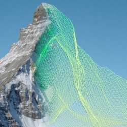 Mapping the Matterhorn with SenseFly drones.