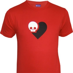 Death is Nothing to Fear SkullHeart Tee