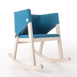 Giancarlo Cutello's felt-wrapped rocking chair, Ivetta.