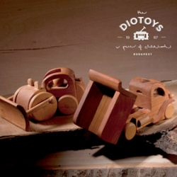 Beautiful wooden Diotoys and lovely identity and packaging from Réka Diósi.