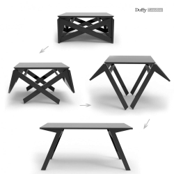 Clever folding tables from Duffy London. This is the Mini MK1 Transforming Coffee Table.