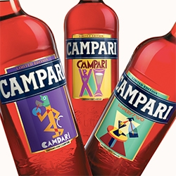 Campari's 2014 Art Labels collection features artworks by futurist Fortunato Depero