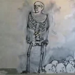 A brilliantly bizarre animation drawn on the walls of an old building! ~ by Blu!