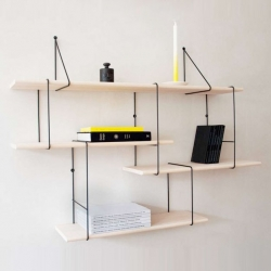 The hanging modular link shelving system by Studio Hausen for Monoqi.
