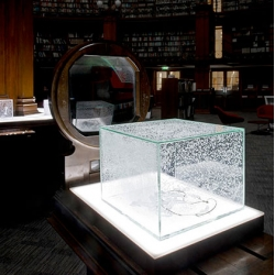 Japanese artist Aiko Miyanga uses Napthalene to model everyday objects. This is Strata, an ever-evolving series of objects in collaboration with White Rainbow at Picton Reading Room.