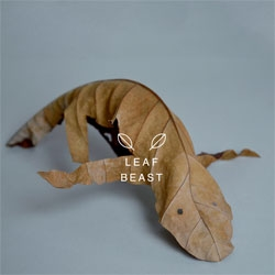 Leaf Beast. Baku Maeda turns dried magnolia leaves into creatures!