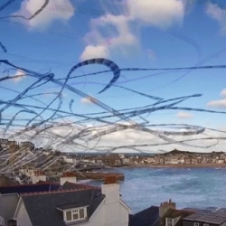 Paul Parker captures the flight paths of gulls over Cornwall with the echo effect.