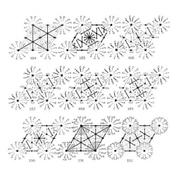 Beautiful crystal diagrams. William T. Astbury & Kathleen Yardley's Space-group Diagrams.
