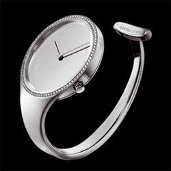 Watches by vivianna torun for georg jensen... steel with diamonds.