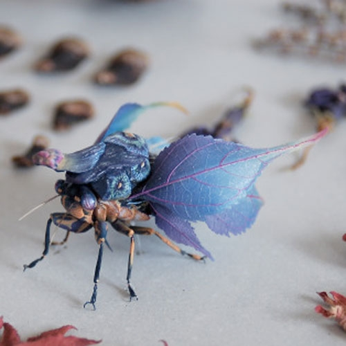 Beautiful creations by Hiroshi Shinno. Love the imaginary insects created from brass and resin,