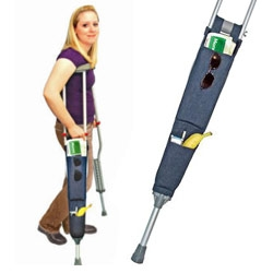 Here's a nice idea that seems to have been designed out of necessity ~ Crutch Tote.