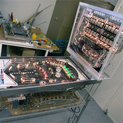 Visible Pinball Machine ~ the images are breathtaking! Neptune Beach Amusement Museum