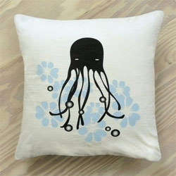 "Binth Organic Octopus Pillow from Green with Glamour ""go green. stay stylish."" ~ this is how your NOTCOT Editors feel on a monday morning."