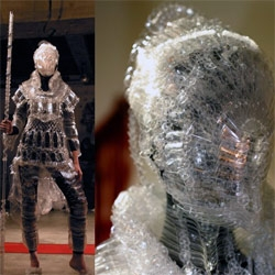 PET Bottle Armor. by Kosuke Tsumura, designer for the Final Home brand of urban survival clothing and accessories.