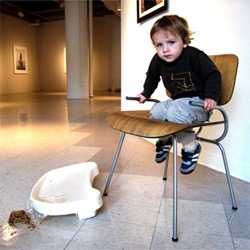 Eames' Hacks.... brilliant hilarious high chair and toilet seat. By The University of the Arts, Philadelphia's  ID students