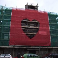Brad Downey Goes Big in Aberdeen ~ great use of scaffolding as art
