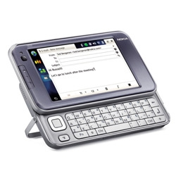 N810 ~ nokia's latest incarnation of the N800 is looking extremely tempting... with the added keyboard, they are at least listening to what users want! And GPS! and Wifi!
