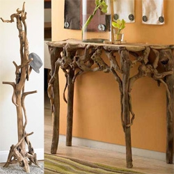 Entwined Root Coat Stand and Table over at ViraTerra