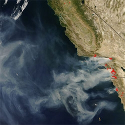 UPDATED - Curious what the So Cal fires look like from space? NASA has some incredible images...