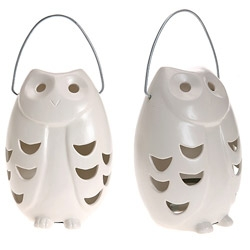 Fat Owl Lantern! made out of ceramic
