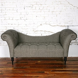 I think future studio definitely needs a good fainting sofa. Like this  Antoinette Fainting Sofa in Black Herringbone.