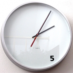 a perfect clock to buy for the office. By M&Co. and available through the MOMA store.