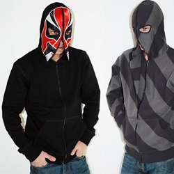 Anicon has some crazy mask hoodies