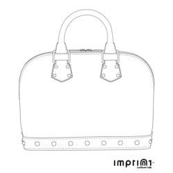 Win a thousand dollar purse for the price of postcard postage. Imprint wants you to send an original handbag design on this template and then everyone can vote on their favorite.