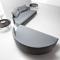 Here's an interesting twist on couch/bed convertibles. the Scoop contemporary bed from Saba Italia