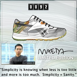 those Maeda Reebok limited editions are now available - there will only be 100 pairs... and as of now they are down to 92!