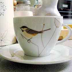 design*sponge has some adorable new tea cups ~ official charley harper edition by a company called tag.