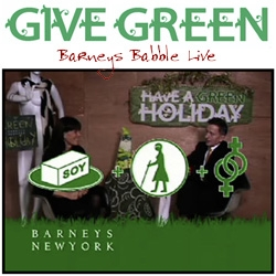 Barneys goes green this holiday season with some great typography throughout their campaign and a hilarious video with Creative Director Simon Doonan and Fashion Director Julie Gilhart.