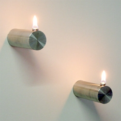 A beautiful sconce oil lamp. Cylo by Duodesign.