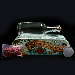 Although this is a kit for kids ~ i'm thinking the whole message in a bottle corked and sealed with wax would make for an awesome party invite