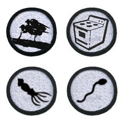 "The ""sexing up science"" badge. The ""my degree inadvertantly makes me competent in fixing household appliances"" badge. The ""knows how to collect semen from more than one species"" badge... and so many more."