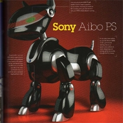 New aibos? Pleo watch out? This is looking seriously space aged, and somehow that reflection has his feet looking like hooves.