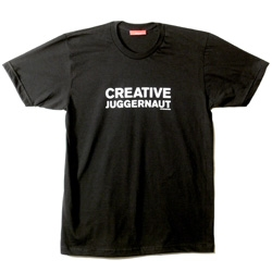 "Artefacture's latest shirts - are you a ""Creative Juggernaut"" ?"