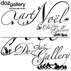 Beautiful typography for Doz Gallery's Art Noel show