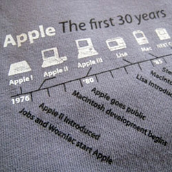 "Apple is over 30 years old... Insanely Great Tees has a ""Timeline"" tee!"
