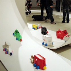 """Now that most vehicles have robust reliability, quality and performance, it is up to designers to dare to dream again and design the car of the future. Platform21 - """"Joyriding""""  thru Feb, Amsterdam"""
