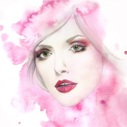 Coco has a beautiful portfolio of fashion illustrations which begin with more traditional painting, drawing, ceramics ~ which are then digitally blended.