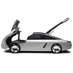 How adorable is the Loremo car? lightweight, fuel efficient, aerodynamic...