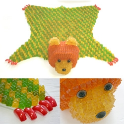 YaYa Chou has a thing for gummi bears ~ i just saw her bear rug at the Tinlark opening ~ also take a look at her gummi chandelier, gummi covered porcelain, and more!