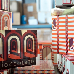 New holiday packaging from Malika Favre for Carluccios.