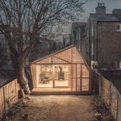 A writer's retreat in a London garden from Weston, Surman & Deane.