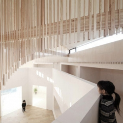 The beautiful interior of Katsutoshi Sasaki's Koro House.