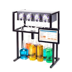 The Bartendo, a drink dispensing, Raspberry Pi-powered robot that lets you hook the dispensers to various juices and liquors, then make a drink by choosing it on your tablet or smartphone.