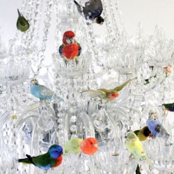 The XL Bird Chandelier from Sebastian Errazuriz created for Pinta, the modern and contemporary Latin American art show in New York.