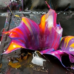 Orchid a series of flower-inspired paint formations from Fabian Oefner.